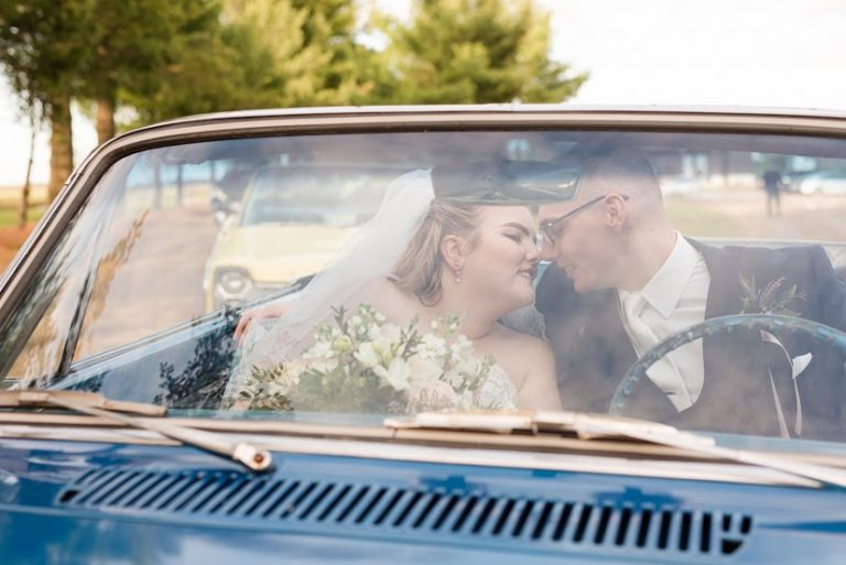 Vintage Car with Couple